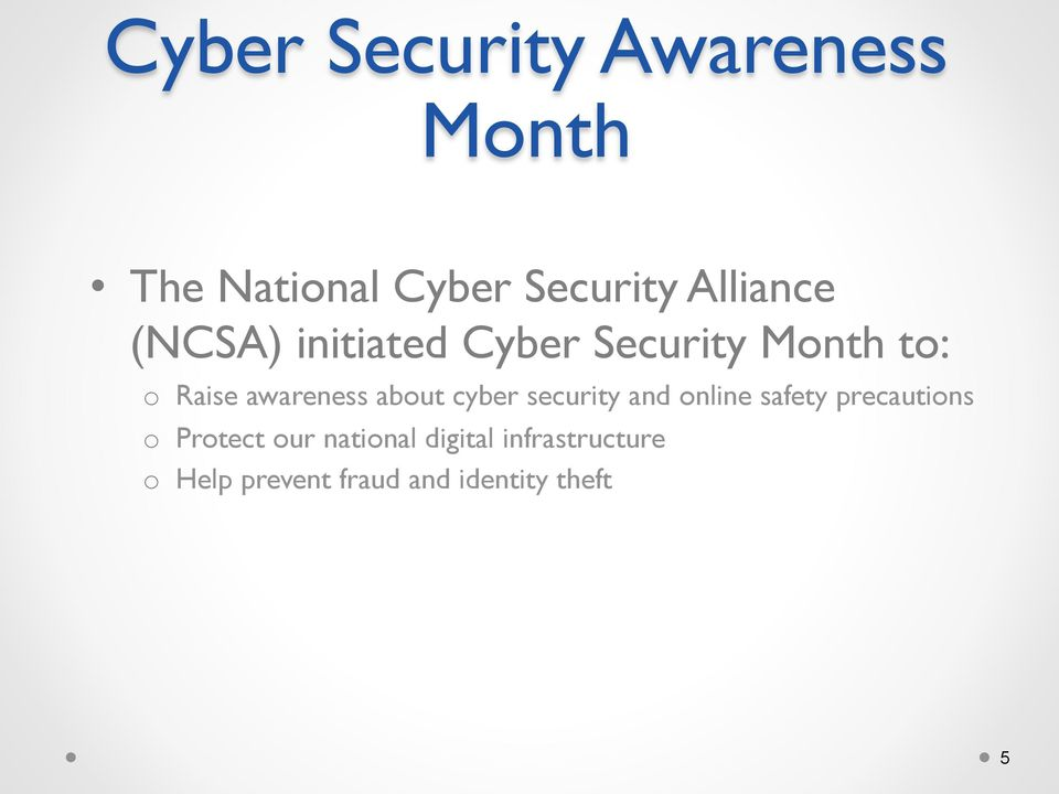 awareness about cyber security and online safety precautions o