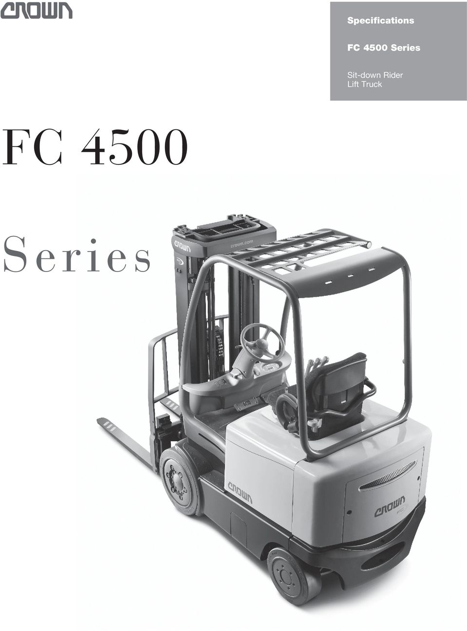 Specifications Fc 4500 Series Sit Down Rider Lift Truck Yale Mpb040 E Wiring Diagram Transcription