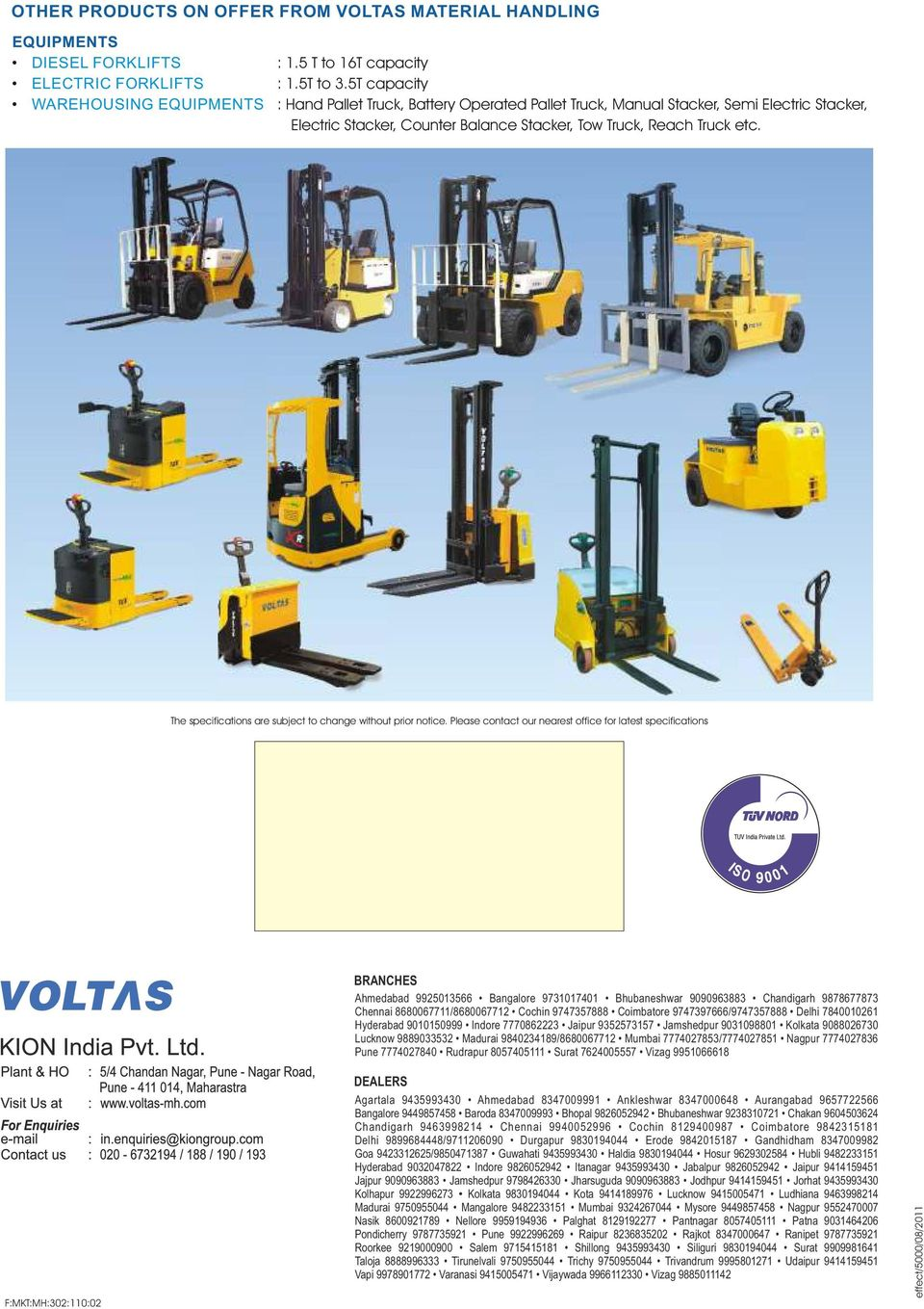 ELECTRIC FORKLIFT TRUCK - PDF