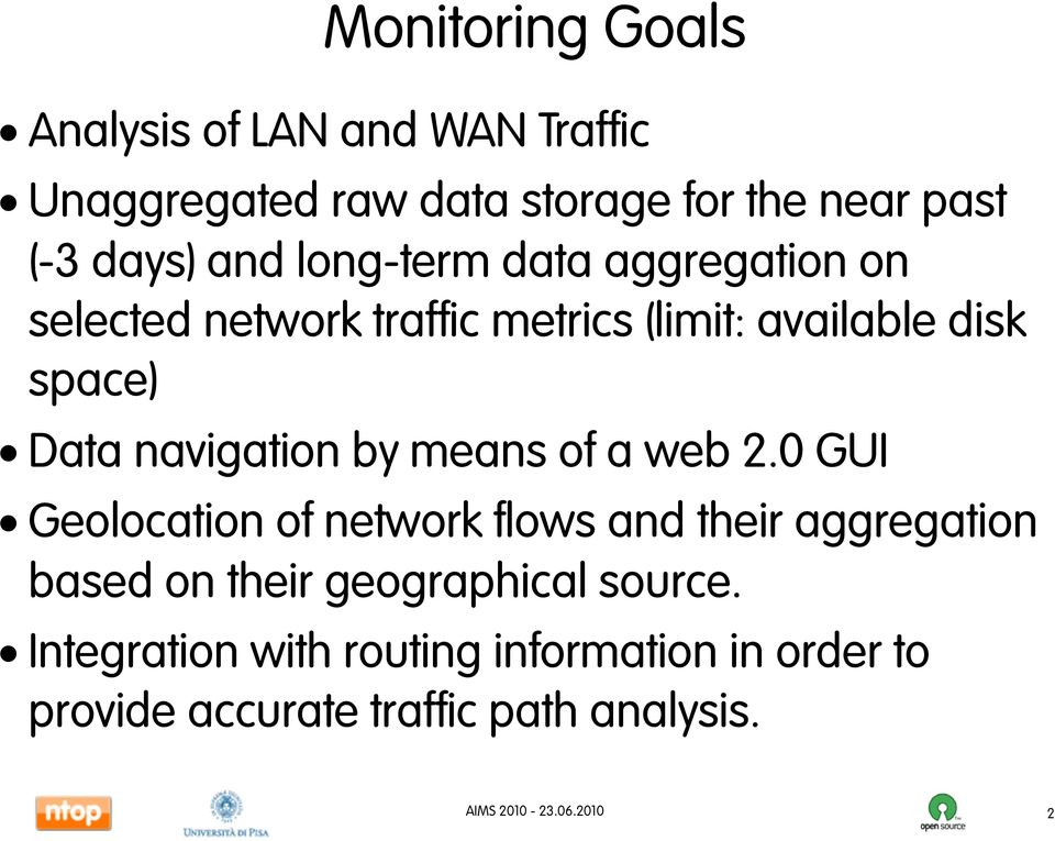 Data navigation by means of a web 2.