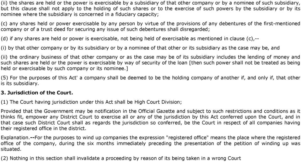 provisions of any debentures of the first-mentioned company or of a trust deed for securing any issue of such debentures shall disregarded; (d) if any shares are held or power is exercisable, not
