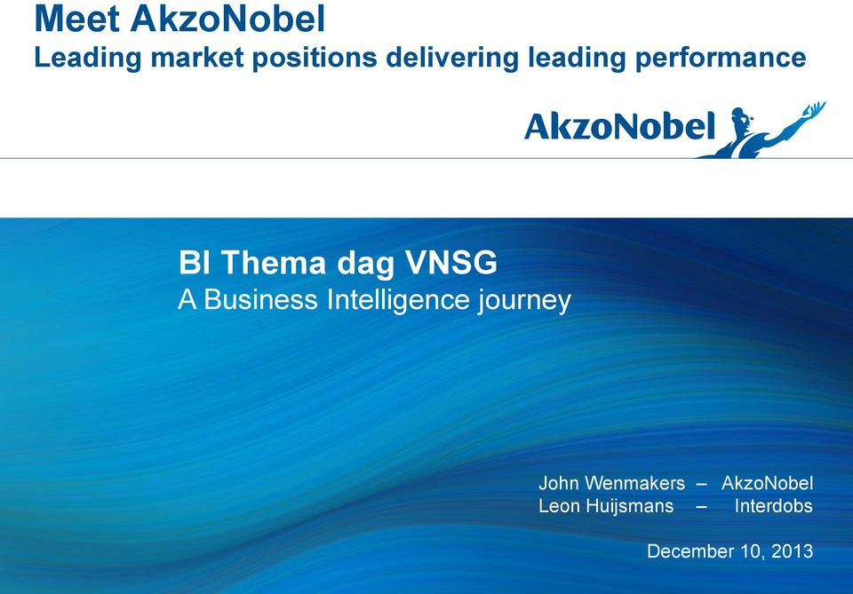VNSG A Business Intelligence journey John