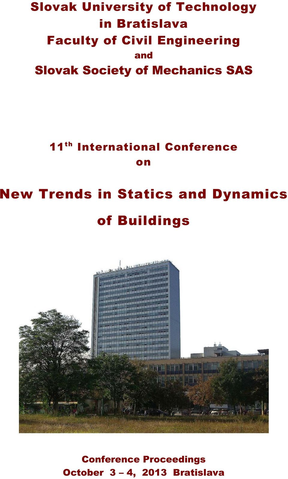 International Conference on New Trends in Statics and