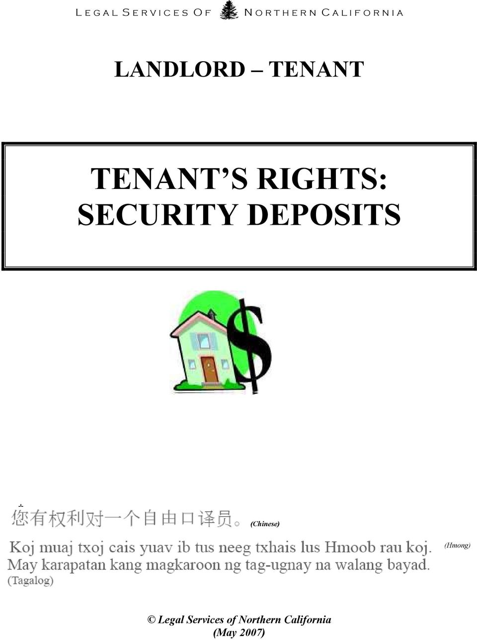 RIGHTS: SECURITY DEPOSITS (Chinese) (Hmong)