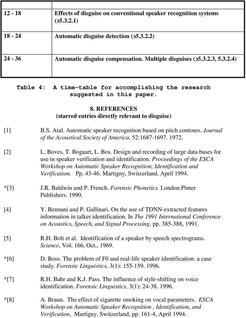 [2] L. Boves, T. Bogaart, L. Bos. Design and recording of large data bases for use in speaker verification and identification.