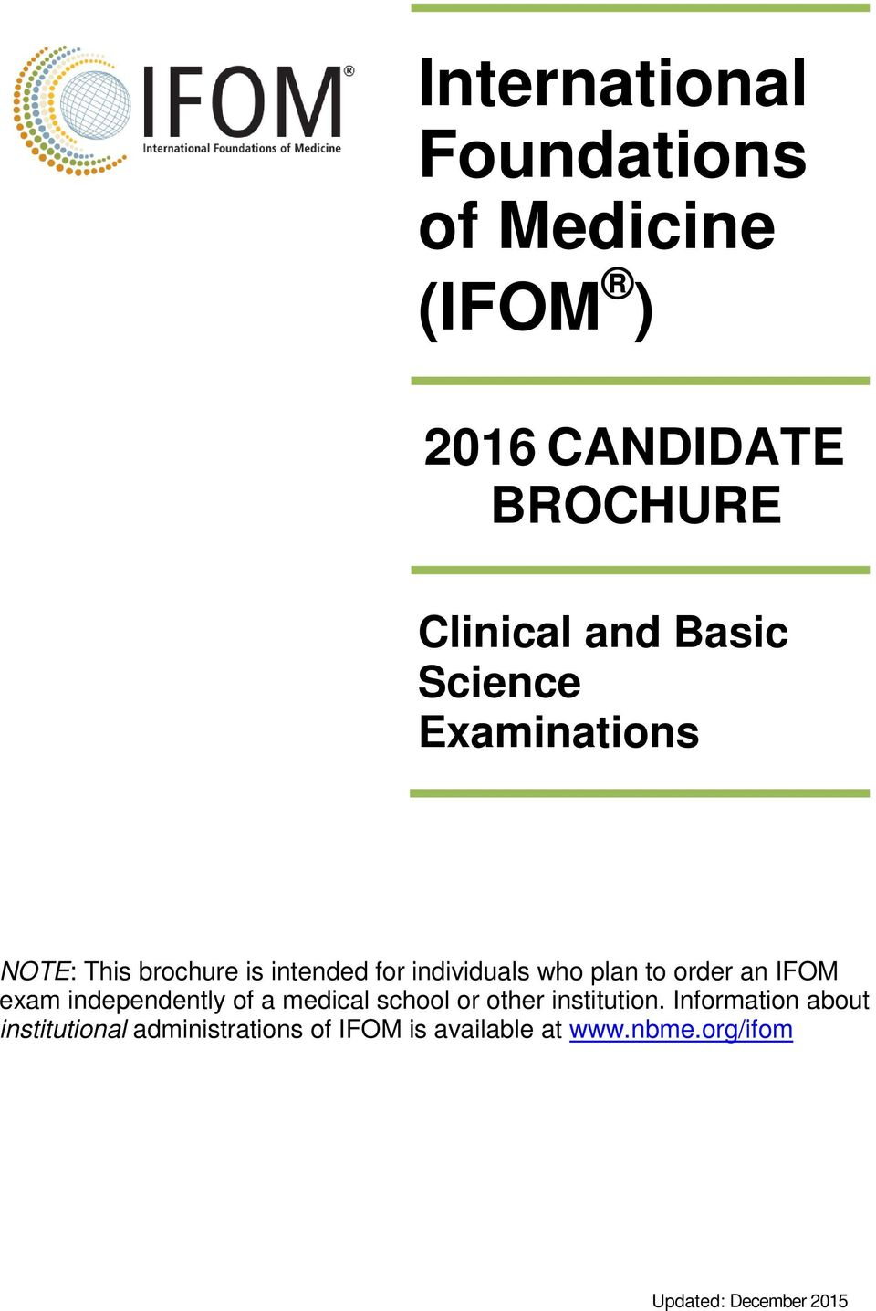 International foundations of medicine ifom pdf ifom exam independently of a medical school or other institution 1betcityfo Choice Image