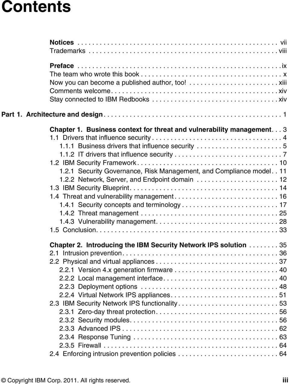 ................................. xiv Part 1. Architecture and design................................................ 1 Chapter 1. Business context for threat and vulnerability management... 3 1.