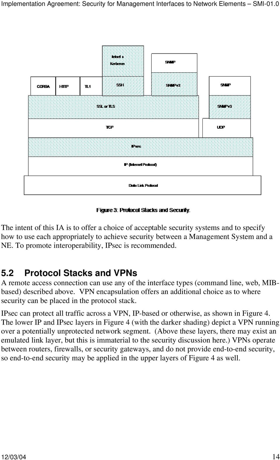 VPN encapsulation offers an additional choice as to where security can be placed in the protocol stack. IPsec can protect all traffic across a VPN, IP-based or otherwise, as shown in Figure 4.