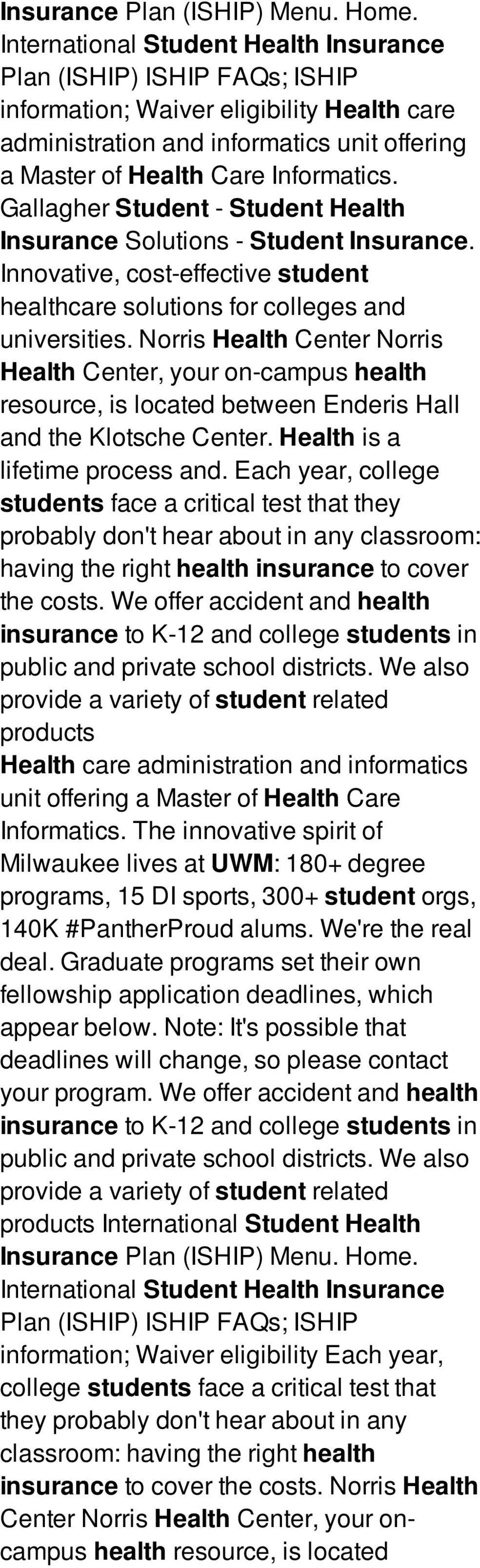 Gallagher Student - Student Health Insurance Solutions - Student Insurance. Innovative, cost-effective student healthcare solutions for colleges and universities.