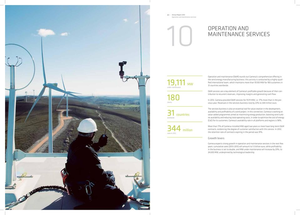 19,100 MW for 180 customers in 31 countries worldwide.