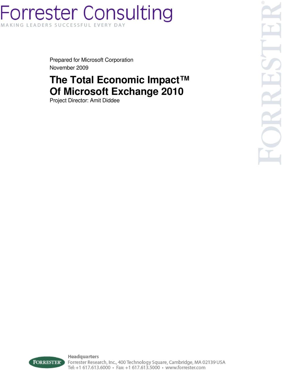 Total Economic Impact Of