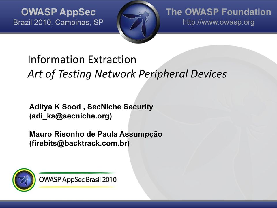 org Information Extraction Art of Testing Network Peripheral