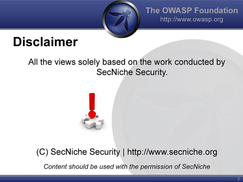conducted by SecNiche Security.