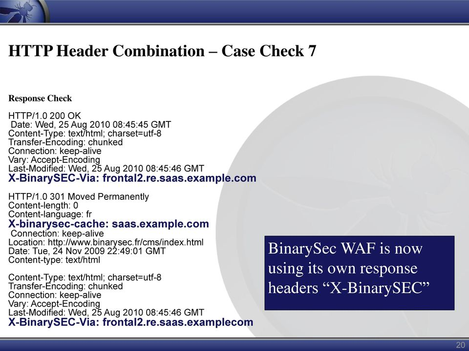 GMT X-BinarySEC-Via: frontal2.re.saas.example.com HTTP/1.0 301 Moved Permanently Content-length: 0 Content-language: fr X-binarysec-cache: saas.example.com Connection: keep-alive Location: http://www.