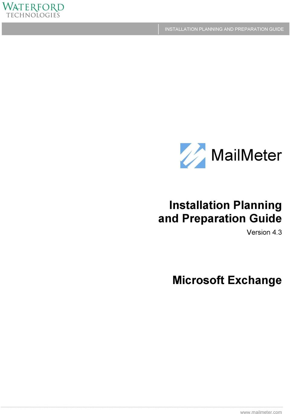 Installation Planning and