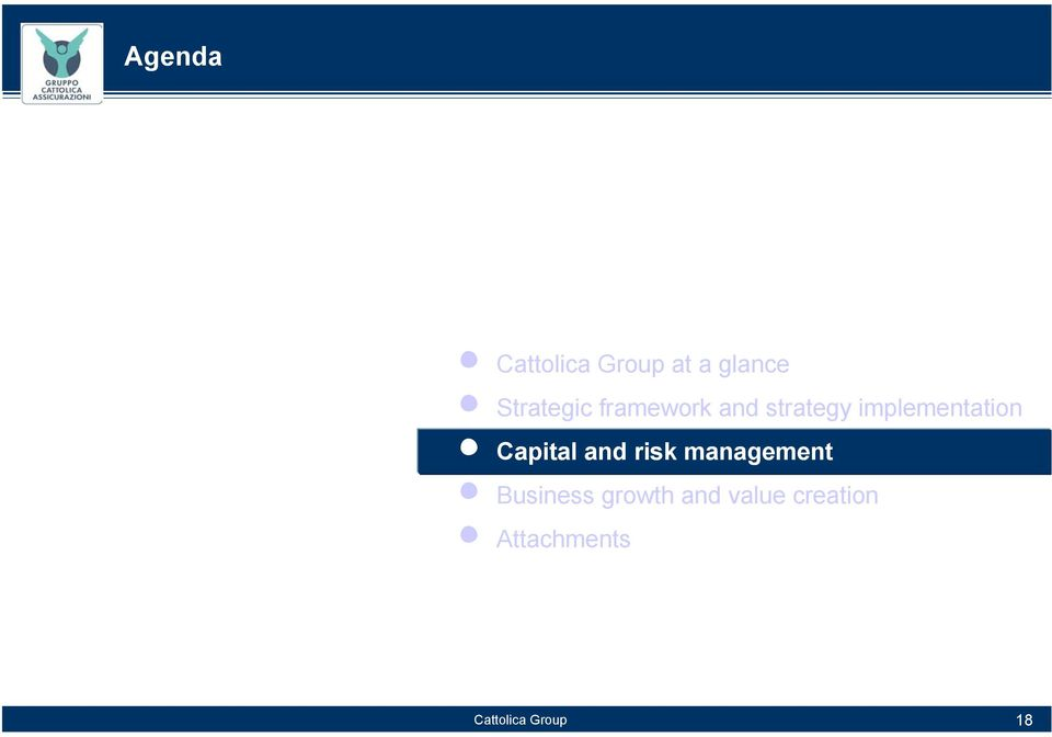 n Capital and risk management n