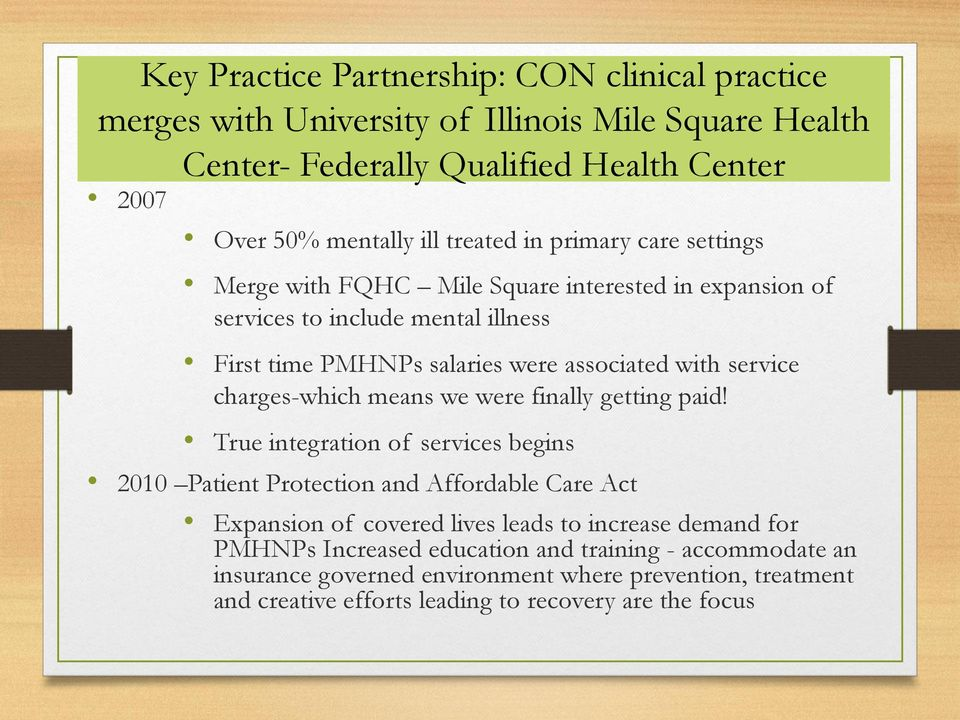 The Evolving Role of Advanced Practice PMHNP Roles in