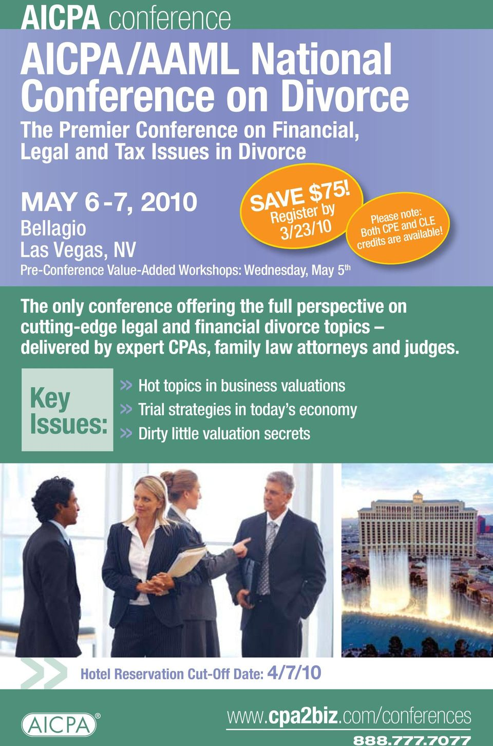 The only conference offering the full perspective on cutting-edge legal and financial divorce topics delivered by expert CPAs, family law attorneys and judges.