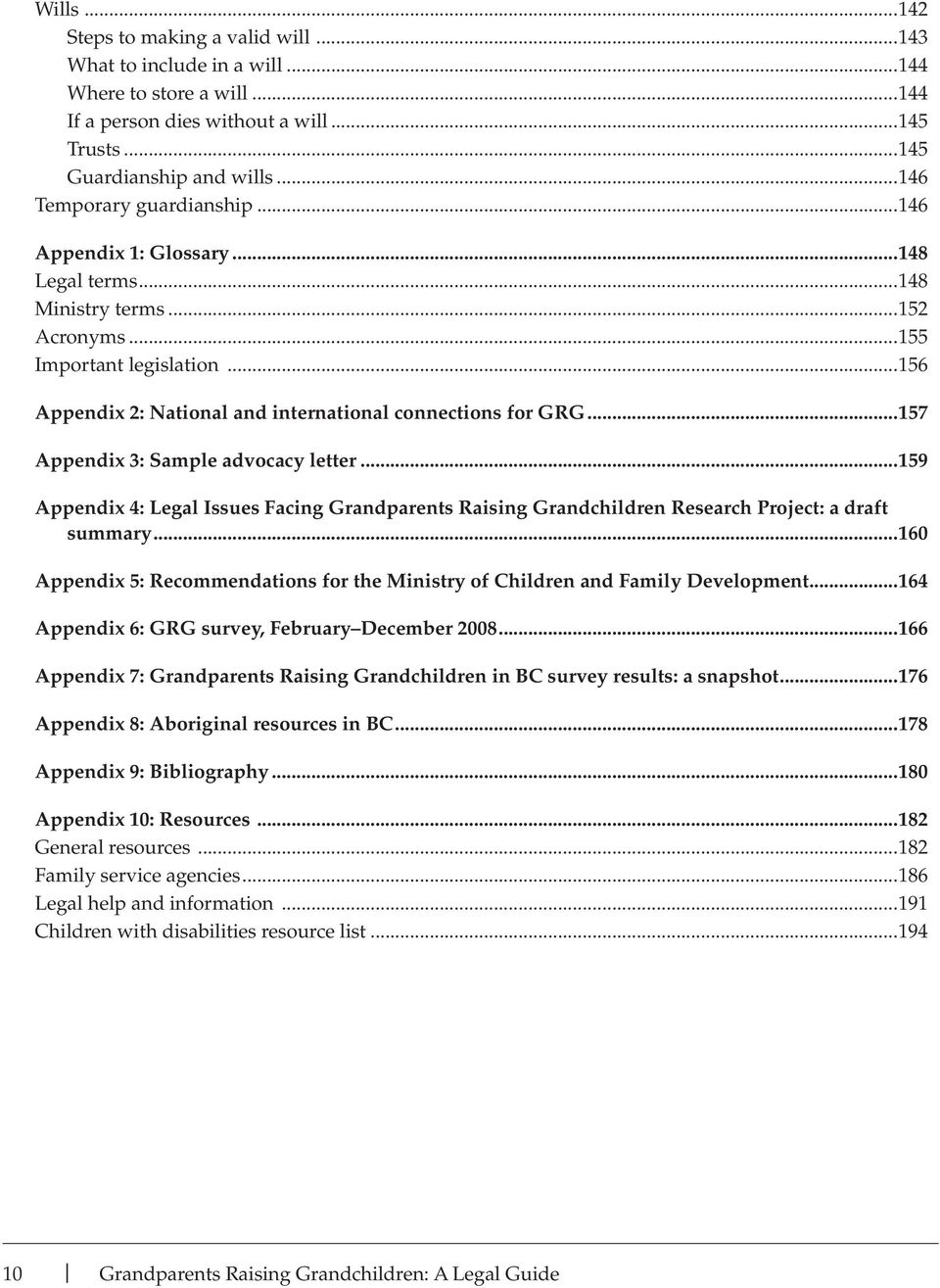 ..156 Appendix 2: National and international connections for GRG...157 Appendix 3: Sample advocacy letter.
