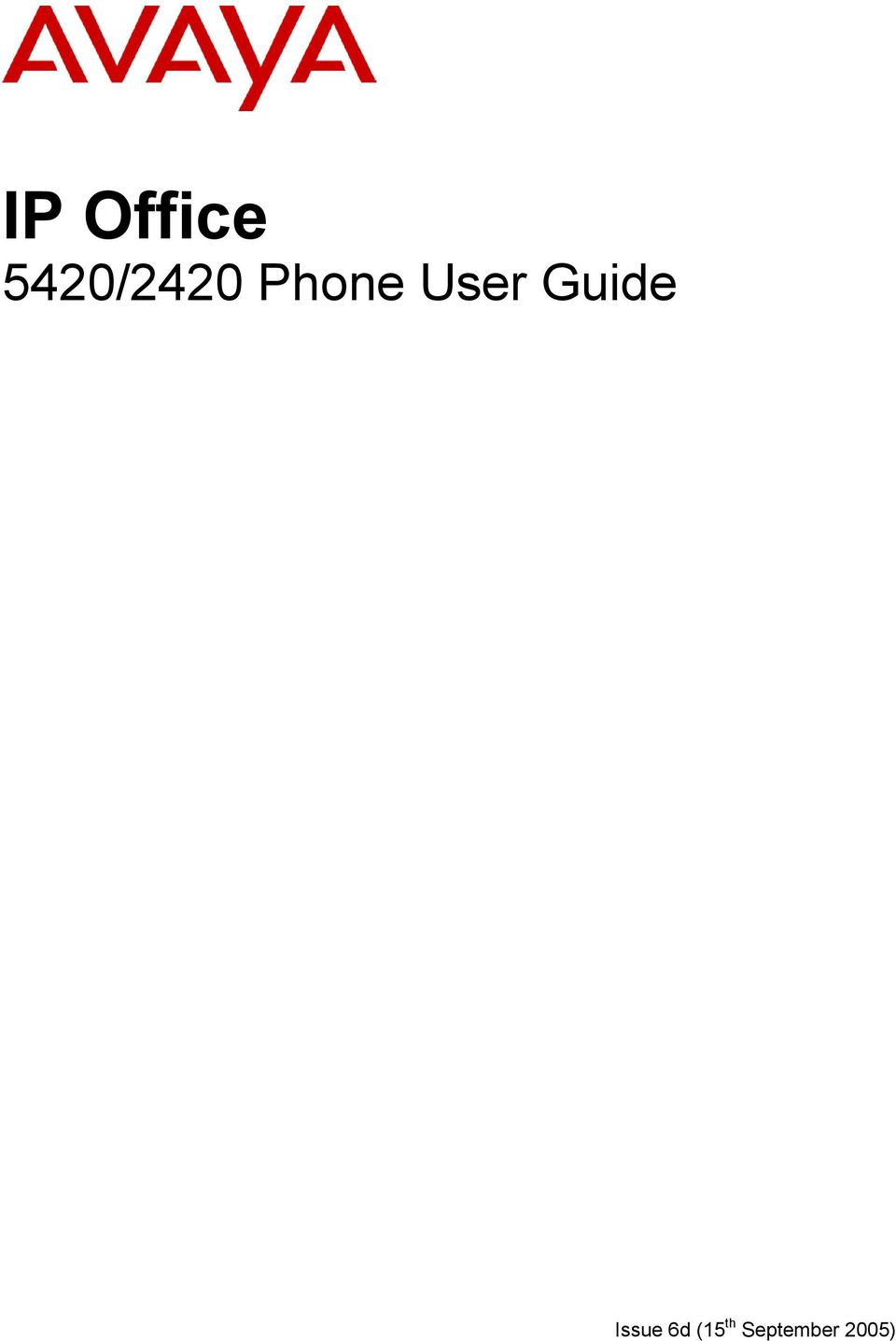 User Guide Issue