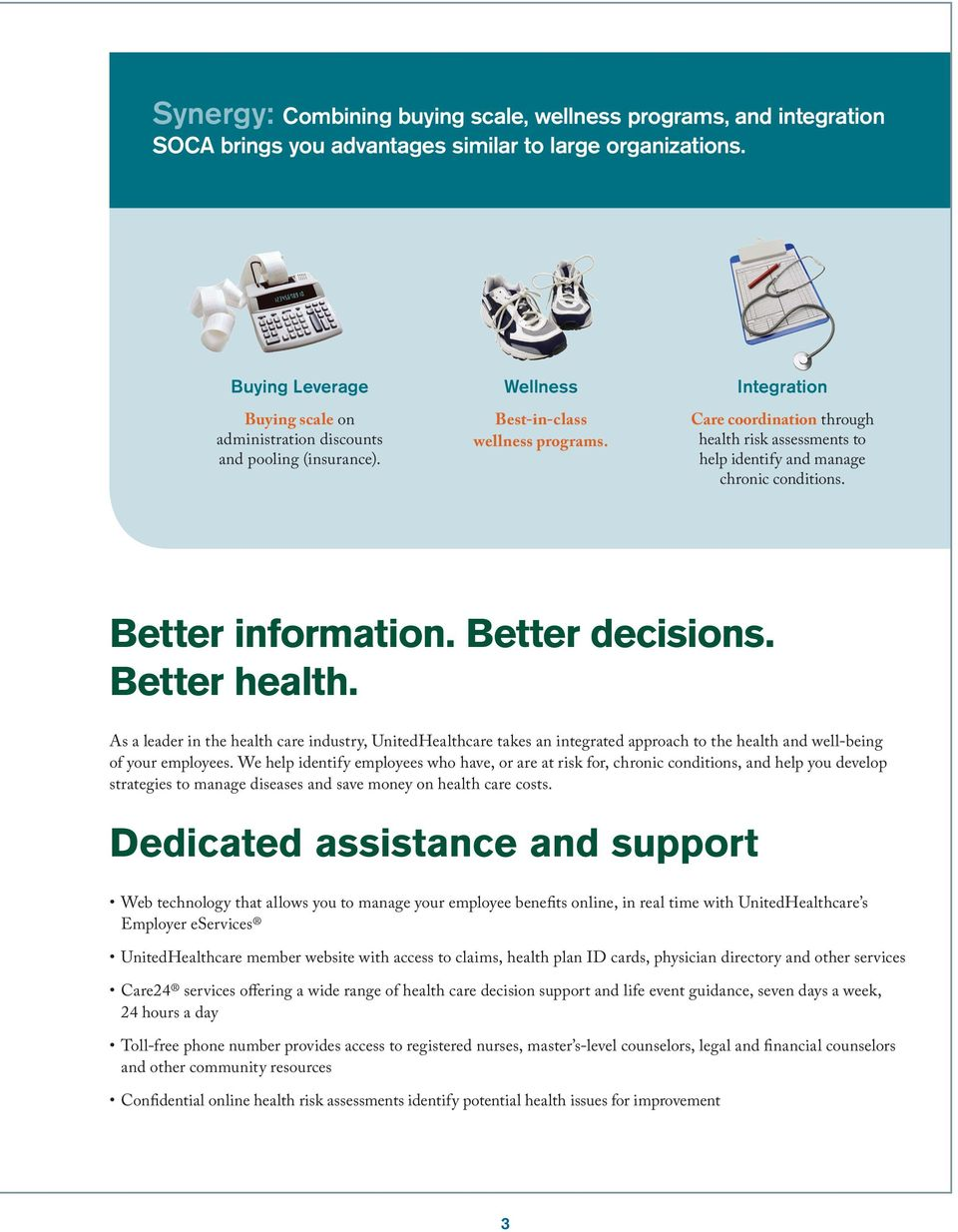 Integration Care coordination through health risk assessments to help identify and manage chronic conditions. Better information. Better decisions. Better health.