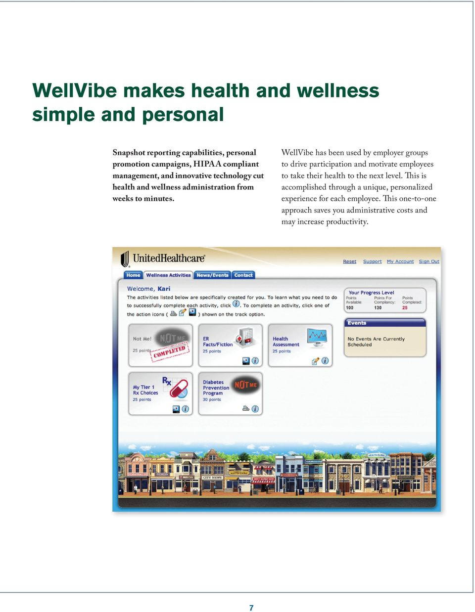 7 WellVibe has been used by employer groups to drive participation and motivate employees to take their health to the next level.