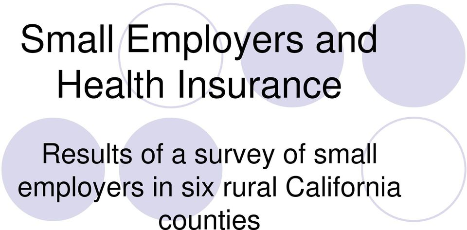 survey of small employers