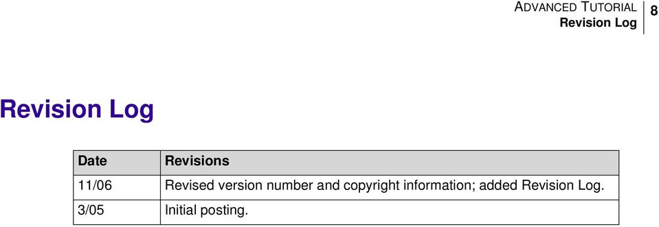 number and copyright information;