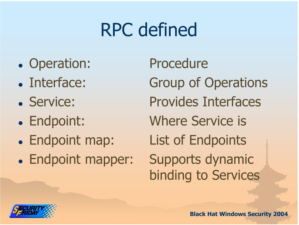 Endpoint: Where Service is Endpoint map: List of