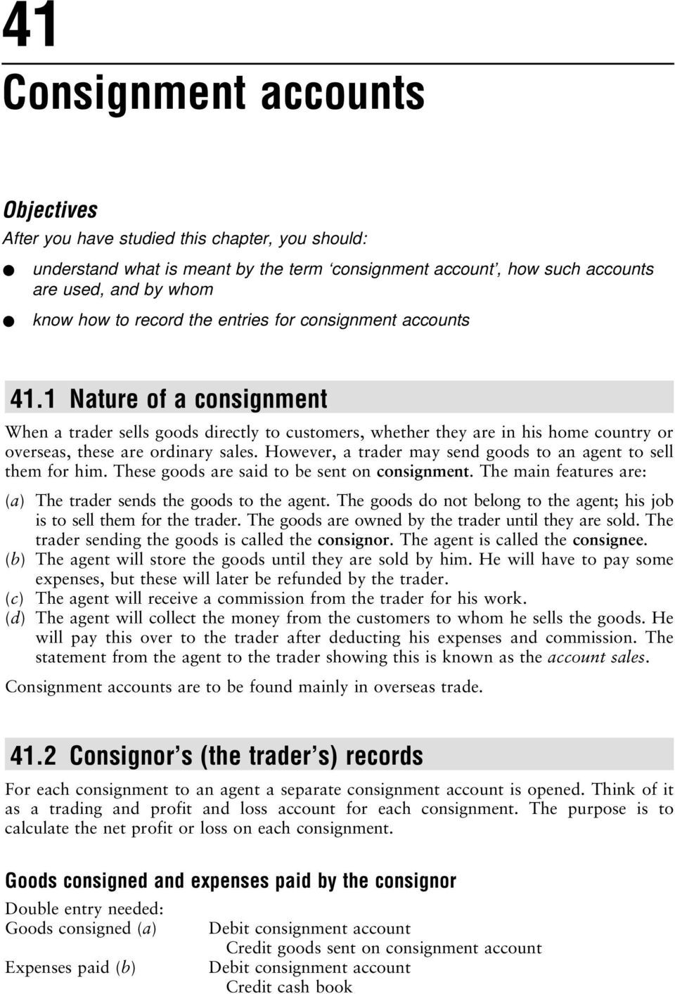 Consignment accounts pdf however a trader may send goods to an agent to sell them for him fandeluxe Image collections