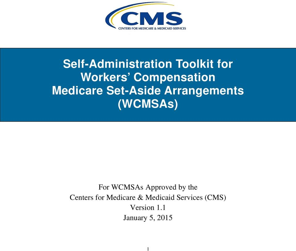 (WCMSAs) For WCMSAs Approved by the Centers for