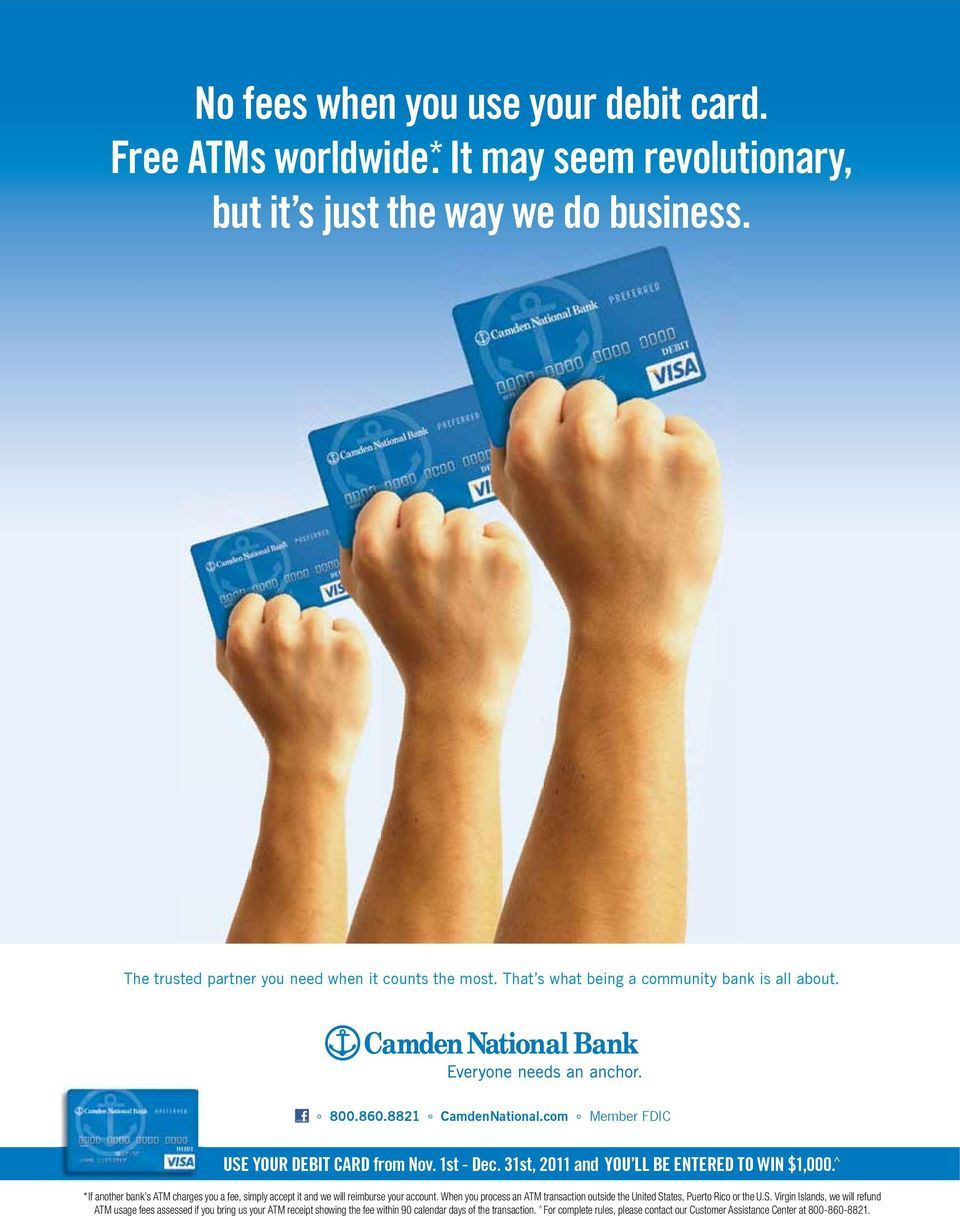 ^ JOIN US FRIDAY, JULY 15 TH *If another bank s ATM charges you a fee, simply accept it and we will reimburse your account.