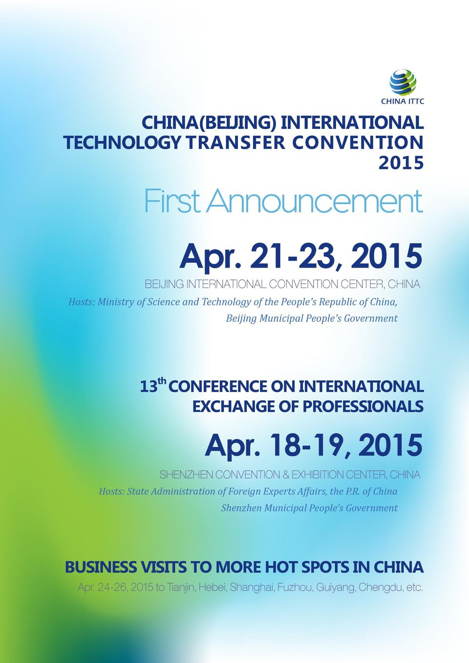 People's Government 1 th CONFERENCE ON INTERNATIONAL EXCHANGE OF PROFESSIONALS Apr.