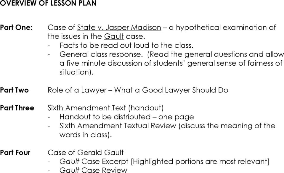 (Read the general questions and allow a five minute discussion of students general sense of fairness of situation).