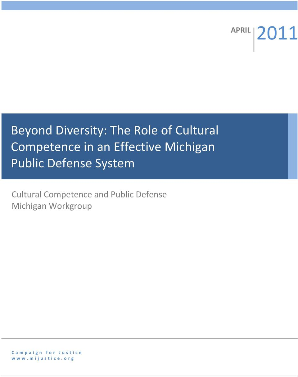 System Cultural Competence and Public Defense