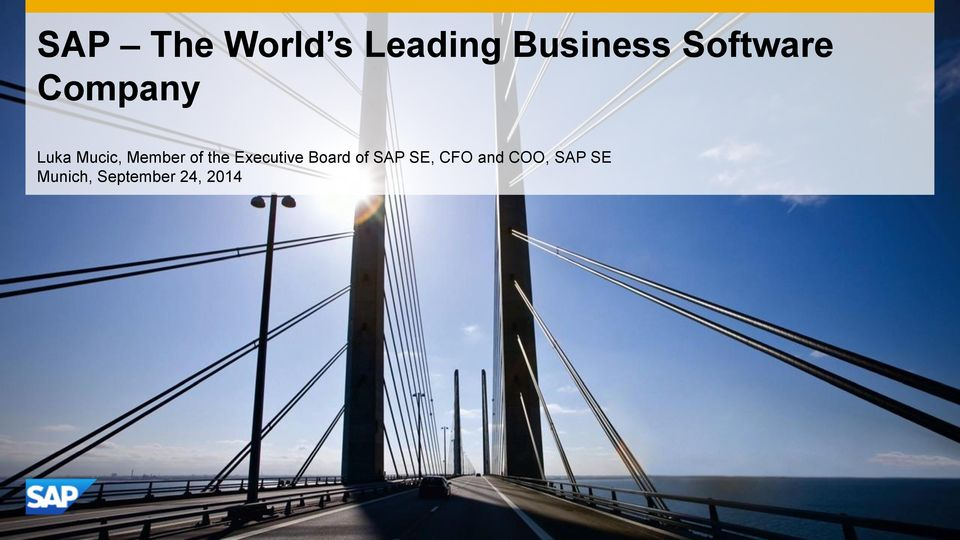 of the Executive Board of SAP SE, CFO