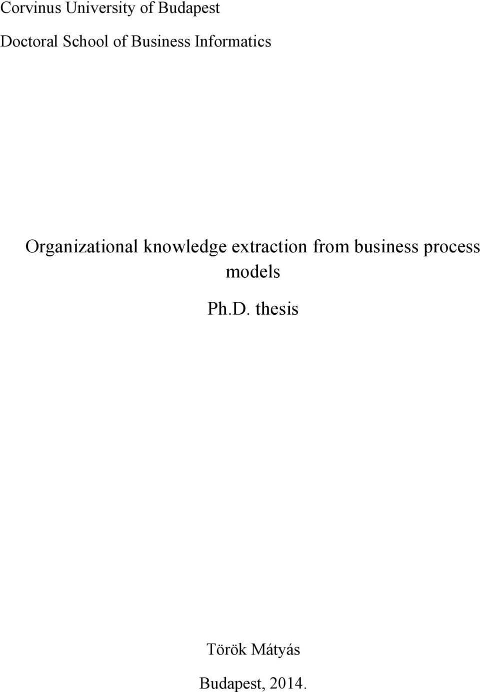 Organizational knowledge extraction from