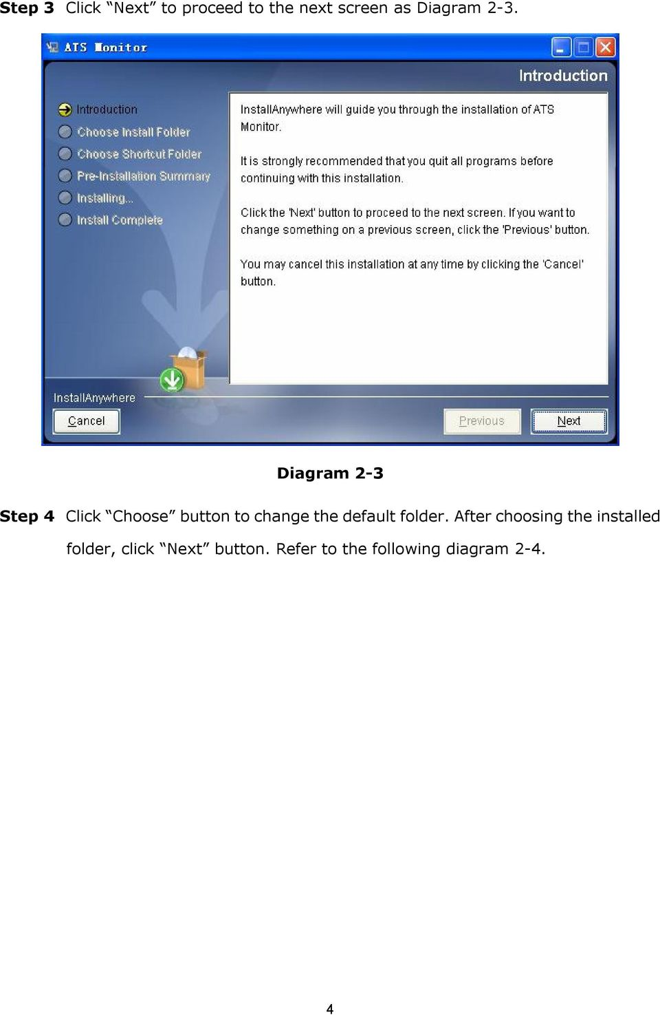 Diagram 2 3 Step 4 Click Choose button to change the