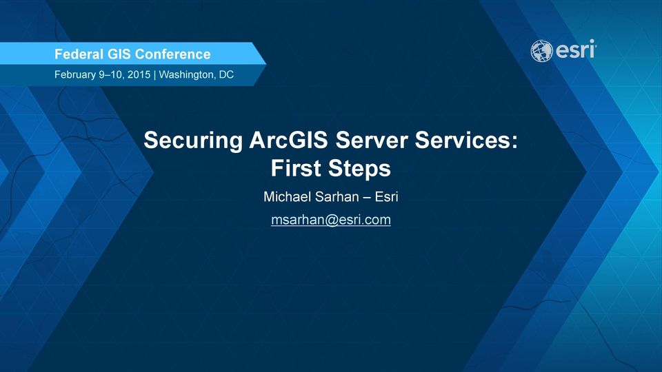 ArcGIS Server Services: First