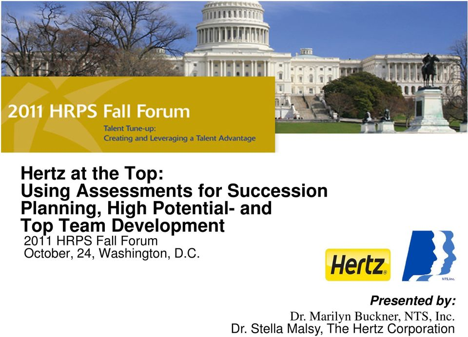 HRPS Fall Forum October, 24, Washington, D.C.