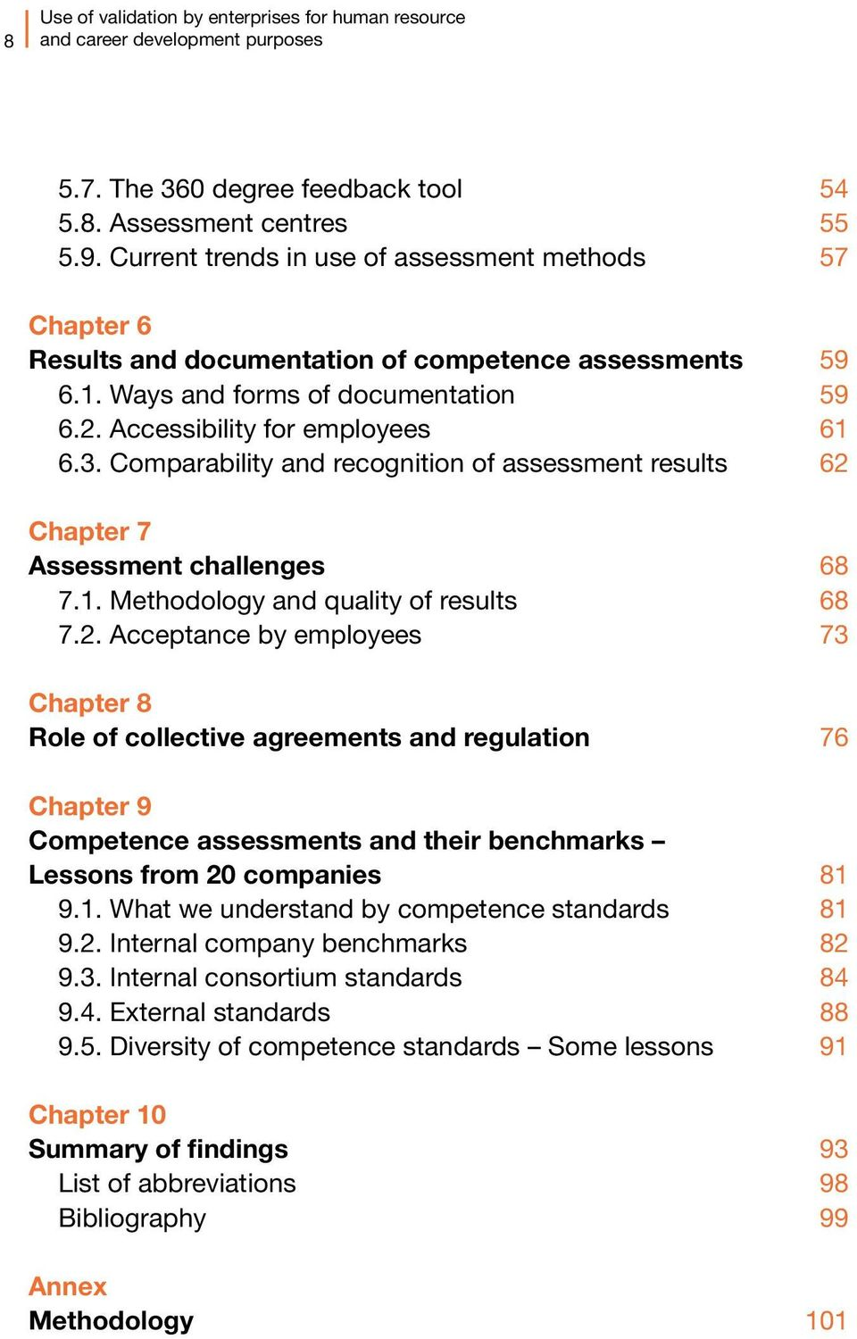 Comparability and recognition of assessment results 62