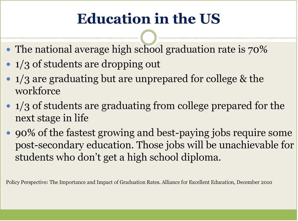 fastest growing and best-paying jobs require some post-secondary education.
