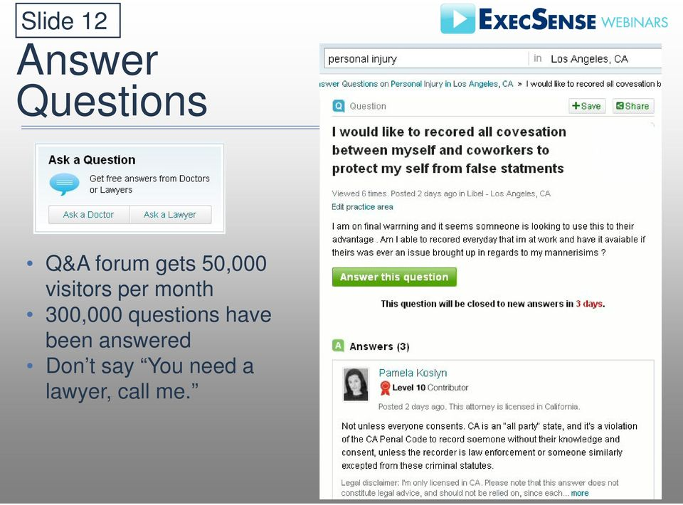300,000 questions have been