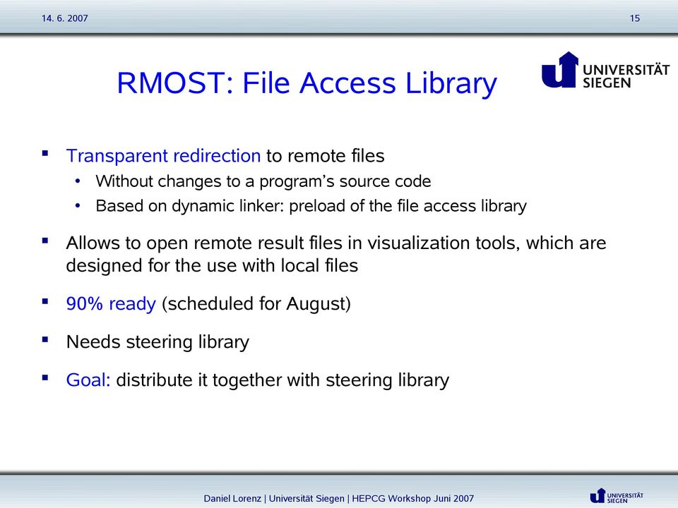 remote result files in visualization tools, which are designed for the use with local files 90%