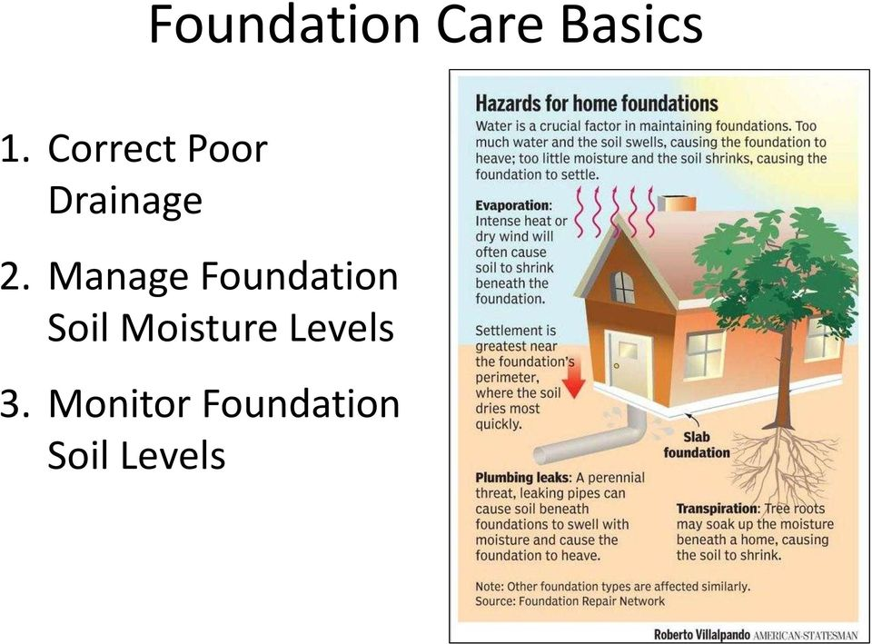 Manage Foundation Soil