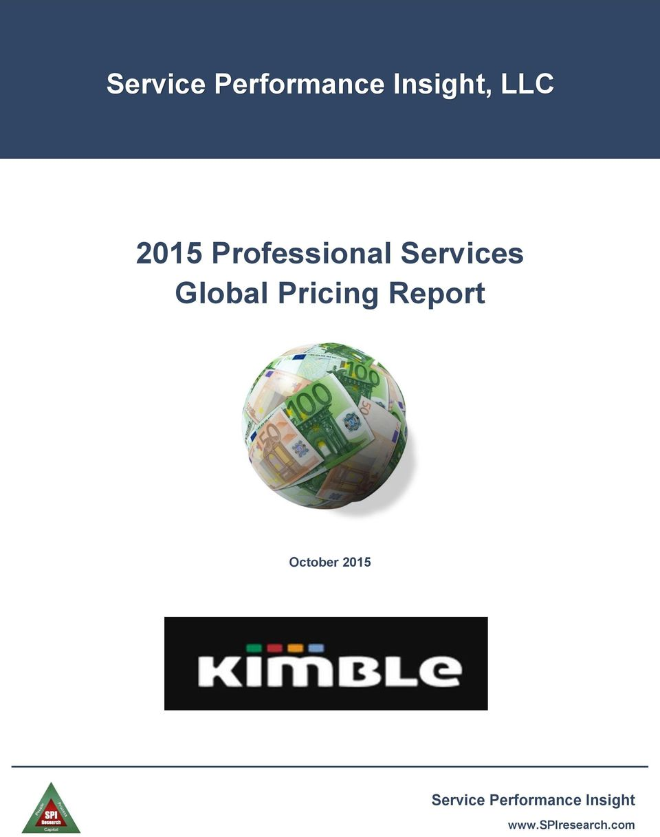 Pricing Report October 2015 Service