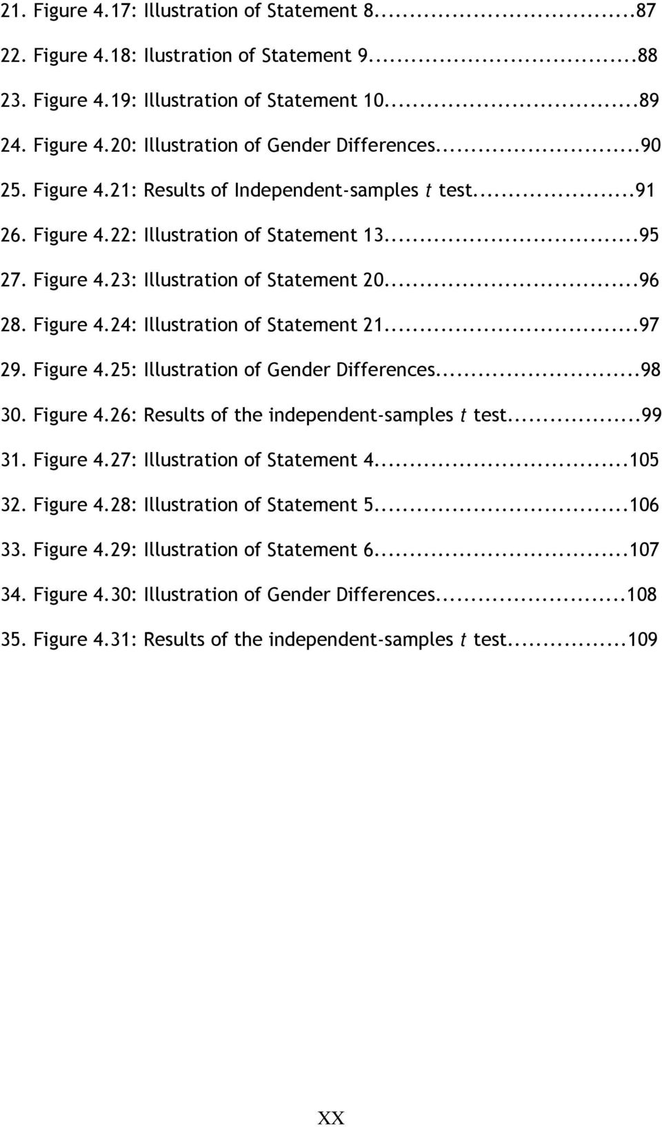 ..97 29. Figure 4.25: Illustration of Gender Differences...98 30. Figure 4.26: Results of the independent-samples t test...99 31. Figure 4.27: Illustration of Statement 4...105 32. Figure 4.28: Illustration of Statement 5.