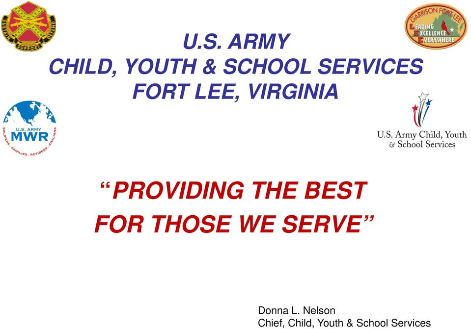WE SERVE Donna L.