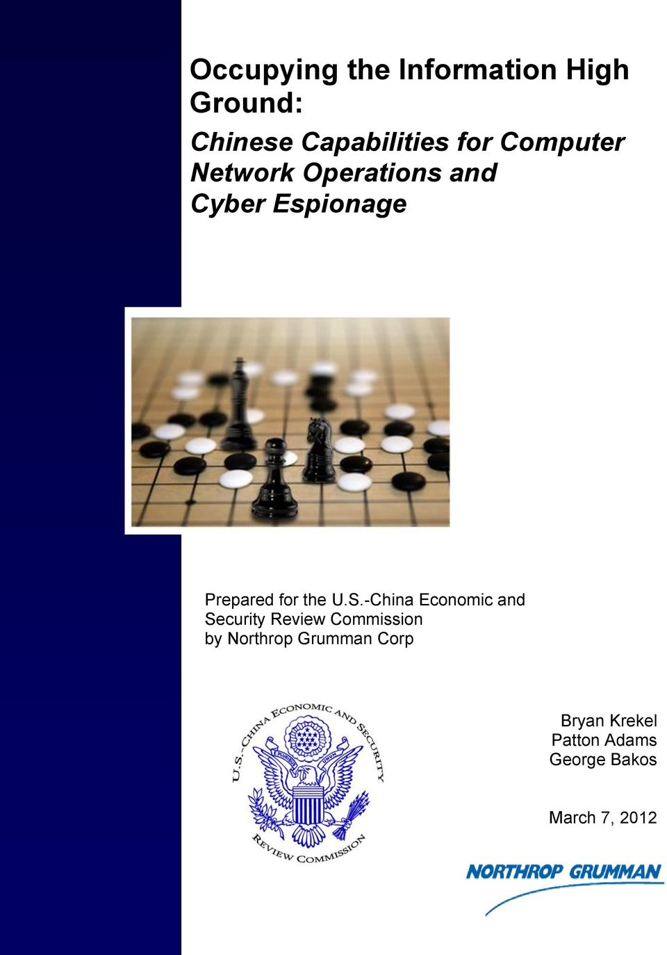 U.S.-China Economic and Security Review Commission by Northrop