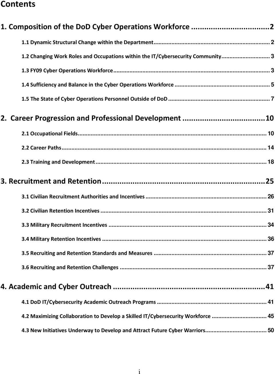 Career Progression and Professional Development... 10 2.1 Occupational Fields... 10 2.2 Career Paths... 14 2.3 Training and Development... 18 3. Recruitment and Retention... 25 3.